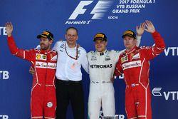 Podium: 1. Valtteri Bottas, Mercedes AMG F1; 2. Sebastian Vettel, Ferrari; 3. Kimi Räikkönen, Ferrar