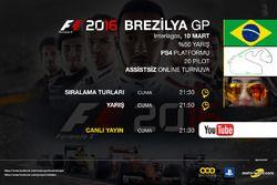 F1 2016 Sanal Turnuva Brezilya GP
