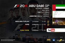 F1 2016 Sanal Formula 1 Turnuvası Abu Dabi GP