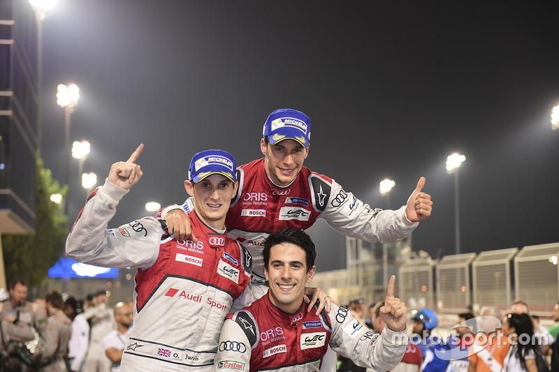 Vincitori della gara #8 Audi Sport Team Joest Audi R18: Lucas di Grassi, Loic Duval, Oliver Jarvis