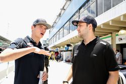 Max Verstappen, Red Bull Racing talks with Felipe Fraga, Brazilian Touring Car driver