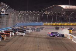 Darrell Wallace Jr., Roush Fenway Racing, Ford, Crash