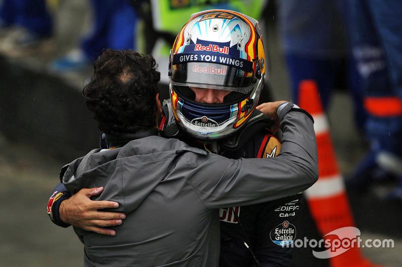 Carlos Sainz Jr., Scuderia Toro Rosso celebra