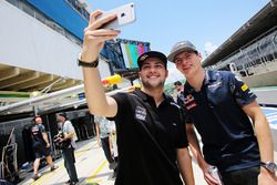(L to R): Felipe Fraga, Stock Car Driver with Max Verstappen, Red Bull Racing