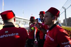 Team members of Mahindra Racing