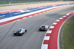 #4 Magnus Racing Audi R8 LMS: Pierre Kaffer, Spencer Pumpelly, #43 RealTime Racing Acura NSX GT3: Ryan Eversley, Tom Dyer