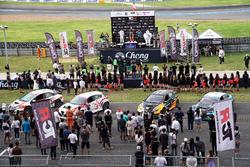 Подиум по итогам второй гонки