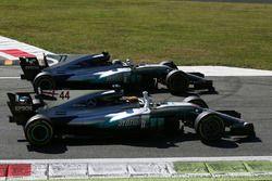 Lewis Hamilton, Mercedes AMG F1 W08 y Valtteri Bottas, Mercedes AMG F1 W08