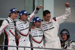 Podium: Winner #2 Porsche Team Porsche 919 Hybrid: Timo Bernhard, Earl Bamber, Brendon Hartley