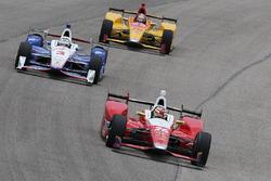 Carlos Munoz, Andretti Autosport Honda, Helio Castroneves, Team Penske Chevrolet, Ryan Hunter-Reay,