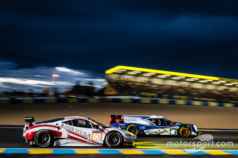 #47 KCMG Oreca 05 Nissan: Tsugio Matsuda, Matt Howson, Richard Bradley and #60 Formula Racing Ferrar