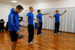 Tom Blomqvist, Maxime Martin, Bruno Spengler and Augusto Farfus, Mental Training