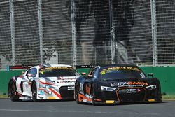 #4 Supabarn Supermarkets Audi R8 LMS: Marcus Marshall, James Koundouris and #1 JAMEC PEM Audi R8 LM