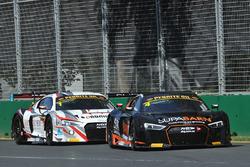 #4 Supabarn Supermarkets Audi R8 LMS: Marcus Marshall, James Koundouris and #1 JAMEC PEM Audi R8 LM