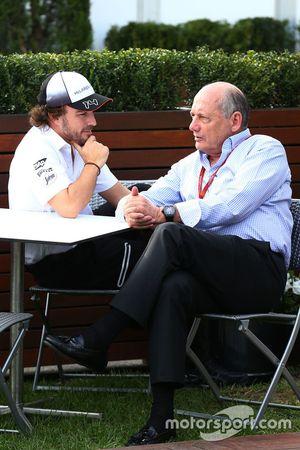 Fernando Alonso, McLaren and Ron Dennis, McLaren Executive Chairman