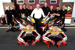 Luca Marini, Athina Forward Racing, Kalex and Lorenzo Baldassarri, Athina Forward Racing, Kalex with the team