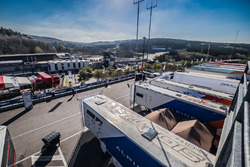 A view of the paddock at Spa