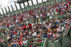 Spectators in the stadium section