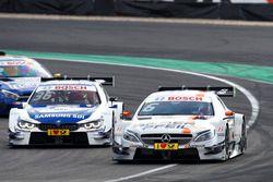 Robert Wickens, Mercedes-AMG Team HWA, Mercedes-AMG C63 DTM and Maxime Martin, BMW Team RBM, BMW M4 DTM
