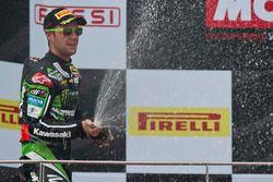 Jonathan Rea, Kawasaki Racing, fête sa deuxième place