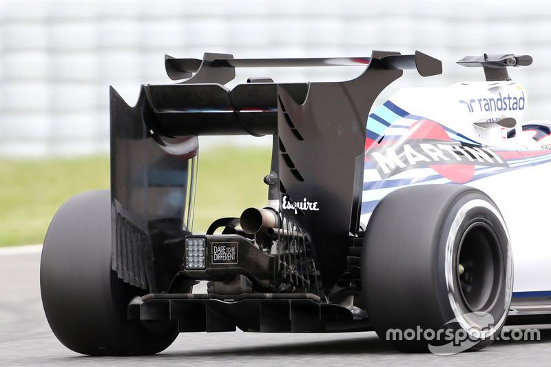 Williams F1 Team, Heckflügel