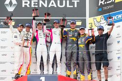 Race 1 podium: winners #3 R-ace GP Racing Renault RS01: Kevin Korjus, Fredrik Blomstedt, second plac