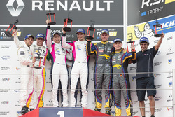 Race 1 podium: winners #3 R-ace GP Racing Renault RS01: Kevin Korjus, Fredrik Blomstedt, second place #4 Oregon Team Renault RS01: Team Bruno Bonifacio, Andrés Mendez, third place #9 Team Marc VDS Renault RS01: Markus Palttala, Fabian Schiller