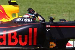 Le vainqueur Max Verstappen, Red Bull Racing RB12 fête sa victoire à la fin de la course
