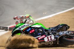 Sturz: Saeed Al Sulaiti, Pedercini Racing
