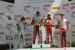 Podium Rookie: second place Simone Cunati, Vincenzo Sospiri Racing, winner Juan Manuel Correa, Prema Powerteam, third place Juri Vips, Prema Powerteam and Woman Trophy Fabienne Wohlwend, Aragon Racing