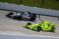 Gabby Chaves, Dale Coyne Racing Honda, Simon Pagenaud, Team Penske Chevrolet