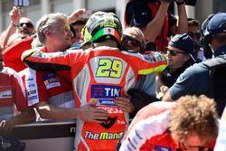 Le poleman Andrea Iannone, Ducati Team
