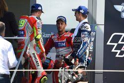 Andrea Iannone, Ducati Team, Andrea Dovizioso, Ducati Team, Jorge Lorenzo, Yamaha Factory Racing