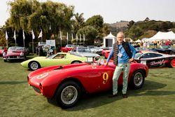 Andreas Mohringer with his 1953 Ferrari 375 MM Pininfarina Spider