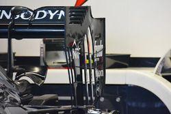 Détail de l'aileron arrière McLaren