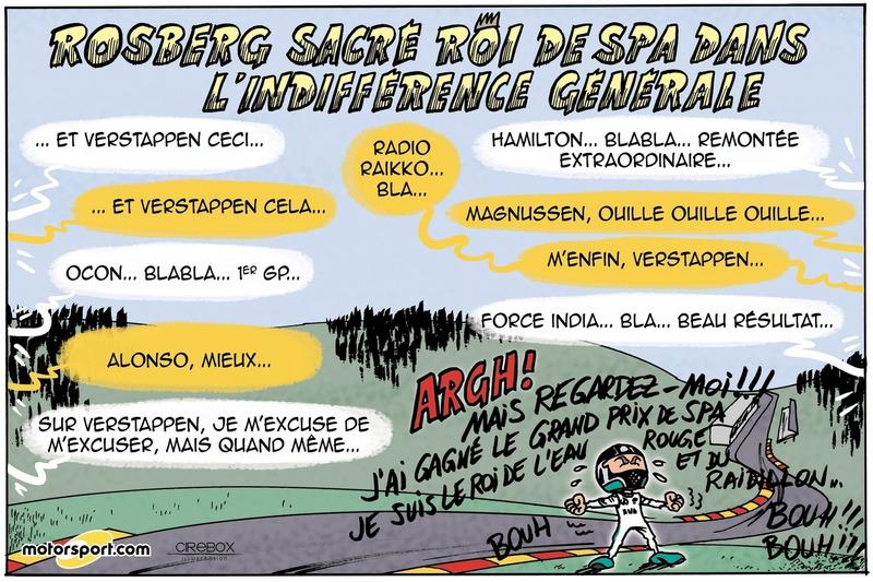 GP de Belgique - Rosberg sacré roi de Spa dans l'indifférence générale