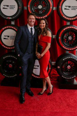 Scott Dixon, Chip Ganassi Racing Chevrolet y su esposa Emma