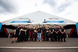 Venturi Team con Mike Conway, Venturi y Stéphane Sarrazin, Venturi