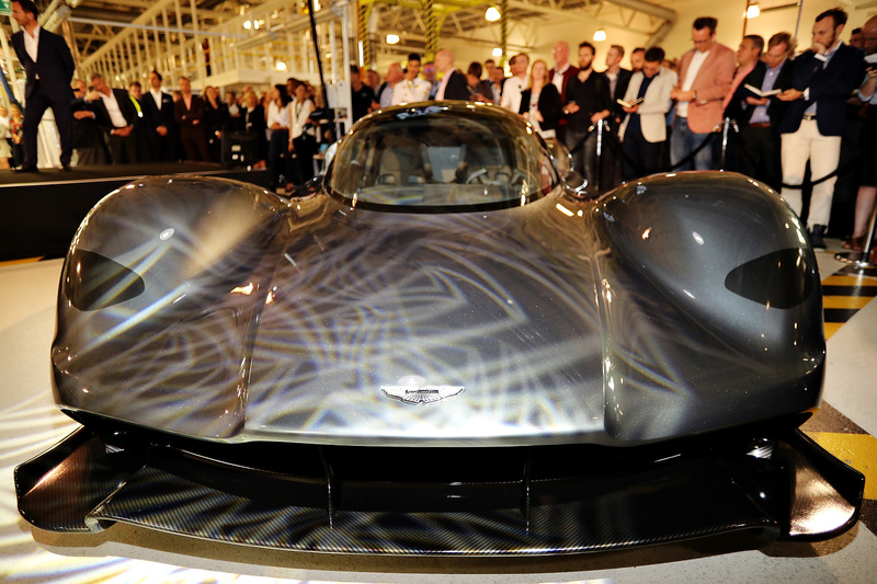 The front of the AM-RB 001 at the Aston Martin and Red Bull Racing Project AMRB 001 Unveil