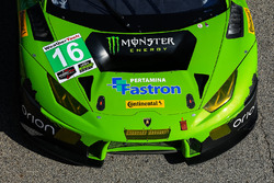 #16 Change Racing Lamborghini Huracan GT3: Spencer Pumpelly, Corey Lewis, Richard Antinucci, detail