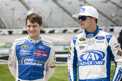 Landon Cassill, Front Row Motorsports Ford, Trevor Bayne, Roush Fenway Racing Ford