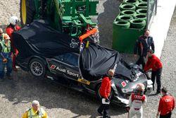 Crash, Timo Scheider, Audi Sport testwagen
