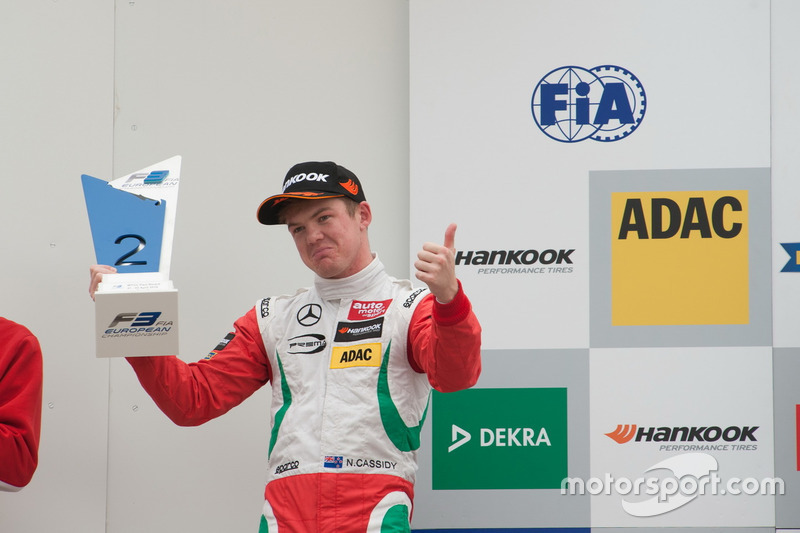 Podium: Nick Cassidy, Prema Powerteam Dallara F312 – Mercedes-Benz