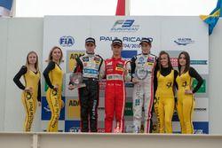 Rookie podium, rostrum, Anthoine Hubert, Van Amersfoort Racing Dallara F312 – Mercedes-Benz, Guanyu Zhou, Motopark Dallara F312 – Volkswagen, Joel Eriksson, Motopark Dallara F312 – Volkswagen