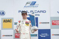 podium, rostrum, Lance Stroll, Prema Powerteam Dallara F312 – Mercedes-Benz