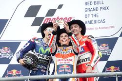 Podium : Le vainqueur Marc Marquez, Repsol Honda Team, Honda; le deuxième Jorge Lorenzo, Movistar Yamaha MotoGP, Yamaha; le troisième Andrea Iannone, Ducati Team, Ducati