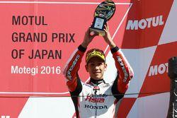 Podio: il terzo classificato Hiroki Ono, Honda Team Asia