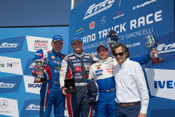Podium: race winner Adam Lacko, second place Jochen Hahn, third place Norbert Kiss