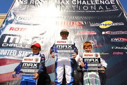 Micro-Max podium: Diego LaRoque, James Egozi and Josh Pierson