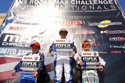 Micro-Max podium: Diego LaRoque, James Egozi y Josh Pierson